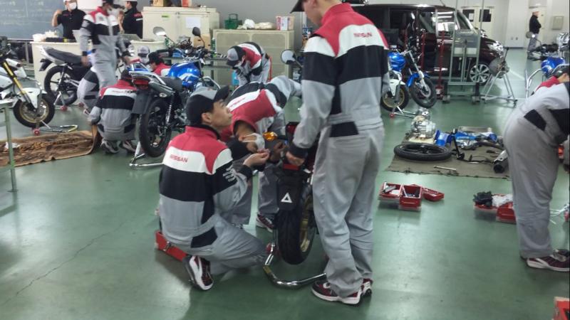 学校情報#2【授業編】オートバイ実習をしています