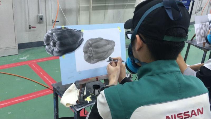 学校情報#7【授業編】カーボディマスター科_エアブラシで楽しく学ぼう!