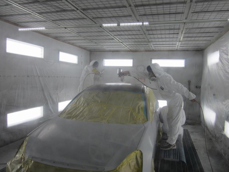 【ボディリペア科】上級塗装授業「車両全塗装!」