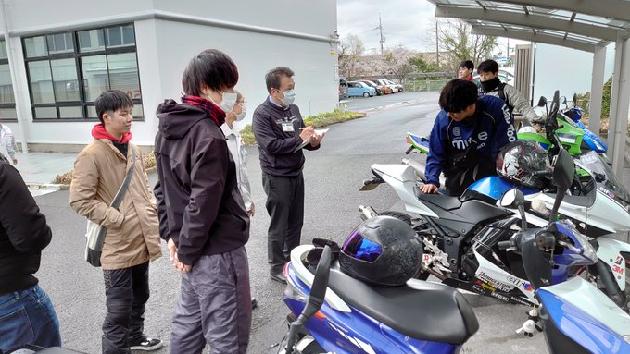 通学用バイク車検をしました